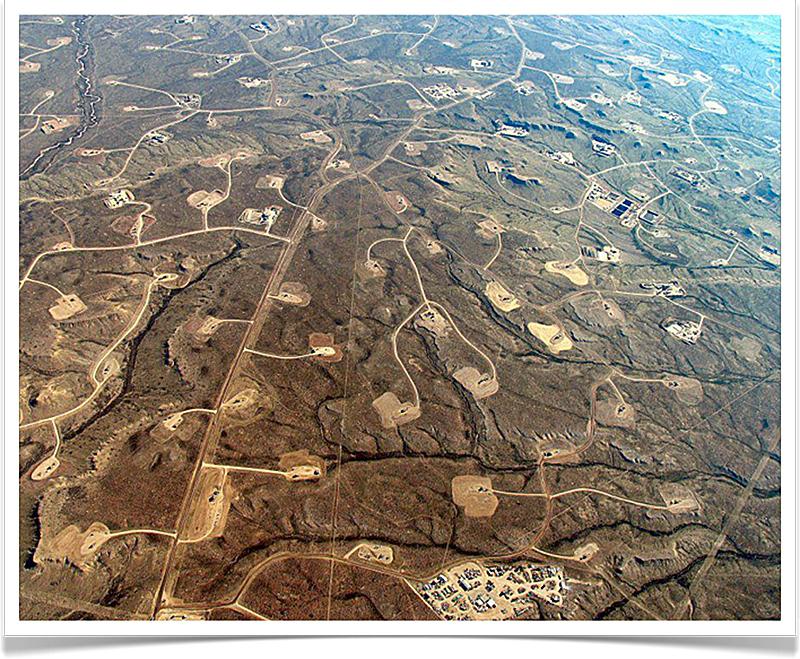 Fracking in Wyoming.